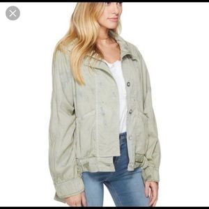 Free People Parachute Cropped military jacket